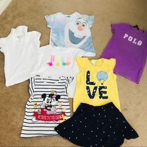 Bundle of Girls' Summer Tees